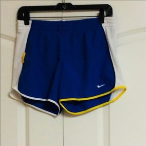 Nike Livestrong Blue Yellow White Cycle Shorts S